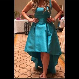 Nicole Miller New York blue high low dress 10